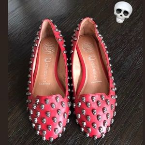 Jeffrey Campbell Skulltini Leather Flats